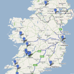 Map of venues Joe has played in