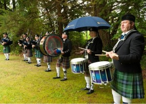 Pipe Band At Church