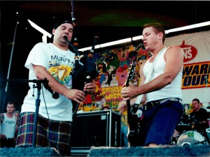 Joe playing with the Dropkick Murphys
